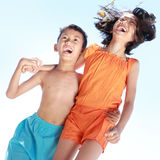 Kids having fun in sunny day Royalty Free Stock Photos