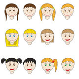 Kids heads Royalty Free Stock Images