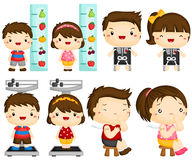 Kids health vector set Stock Images