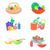 Kids Healthy Ration Flat Vector Concept Royalty Free Stock Photography
