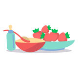 Kids Healthy Ration Flat Vector Concept Stock Images