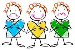 Kids heart Stock Photo