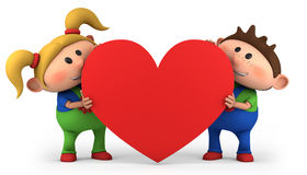 Kids with heart royalty free stock photos