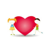 Kids and heart Royalty Free Stock Photography