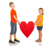 Kids heart shape Royalty Free Stock Image