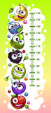 Kids height chart template. vector illustration
