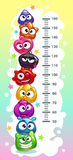 Kids height chart. royalty free illustration