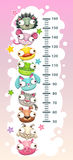Kids height chart template vector illustration