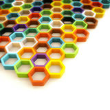 Kids hexagon game Stock Photo
