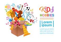 KIds Hobbies Art Classes Logo Workshop Creative Artistic School For Children Development Banner stock illustration