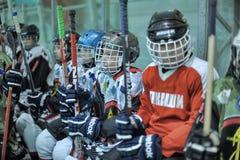 Kids hockey players Stock Image