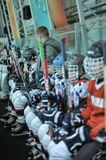 Kids hockey players Stock Images