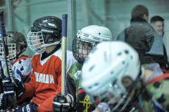 Kids hockey players Royalty Free Stock Images