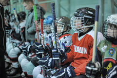 Kids hockey players Stock Photo