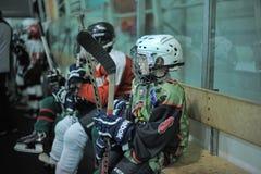 Kids hockey players Stock Photos