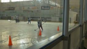 Kids Hockey Training Day stock footage