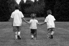 Kids Holding Hands Stock Image