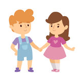 Kids holding hands vector illustration. Royalty Free Stock Image