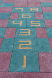 Kids hopscotch Playground Royalty Free Stock Images