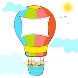 Kids in Hot Air Balloon Royalty Free Stock Image