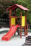 Kids house with slide Stock Image