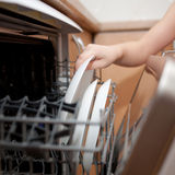 Kids housework. Royalty Free Stock Photography