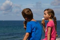 Kids with ice creams Stock Photo