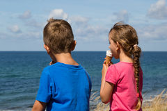 Kids with ice creams Stock Image