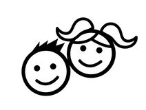 Kids icon vector illustration Stock Photography