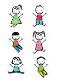 Kids icons Royalty Free Stock Photo