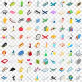 100 kids icons set, isometric 3d style. 100 kids icons set in isometric 3d style for any design vector illustration Stock Photos