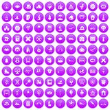 100 kids icons set purple. 100 kids icons set in purple circle isolated on white vector illustration Vector Illustration
