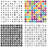 100 kids icons set vector variant. 100 kids icons set vector in 4 variant for any web design isolated on white Royalty Free Stock Photos