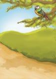 Kids illustration 01. Hand drawn illustration / backdrop / background Royalty Free Stock Photo