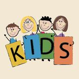 Kids illustration Royalty Free Stock Image