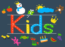 KIds Imagination Handwriting Create Drawing Concept Royalty Free Stock Photos