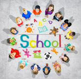 Kids Imagination Handwriting School Learning Concept Stock Photos