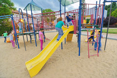 Free Kids In A Playground Stock Photos - 53802013