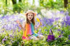 Free Kids In Bluebell Garden Stock Image - 92405091