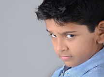 Kids. Indian kid with expression in the face Royalty Free Stock Photos