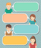 Kids Infographics Elements for Text Royalty Free Stock Photo