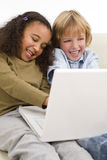 Kids On The Internet Stock Photography