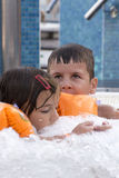 Kids in jacuzzi Stock Photo