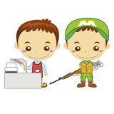 Kids and jobs17 Royalty Free Stock Images