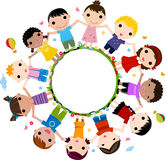 Kids Joining Hands to Form a Circle Royalty Free Stock Photography