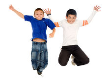 Kids jumping Stock Photos