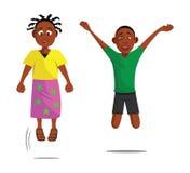 Kids jumping Stock Photo