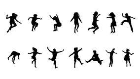Kids jumping Royalty Free Stock Image