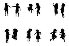 Kids jumping Stock Image