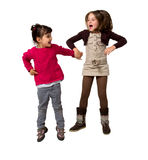 Kids jumping Stock Photography